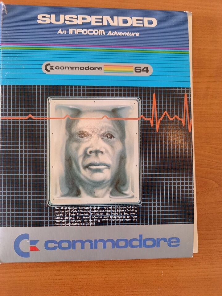 Suspended af Infocom, 5 1/4 disk til C64, Commodore 64