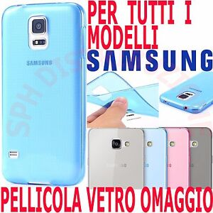 COVER-Pellicola-VETRO-morbida-Custodia-sottile-SILICONE-GEL-per-Samsung-Galaxy