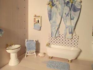 Image Is Loading NEW DOLL HOUSE BATHROOM FURNITURE SET NIB W