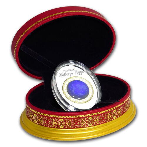 Blue Tsarevich Constellation SKU#159085 2018 Niue Silver Faberge Eggs