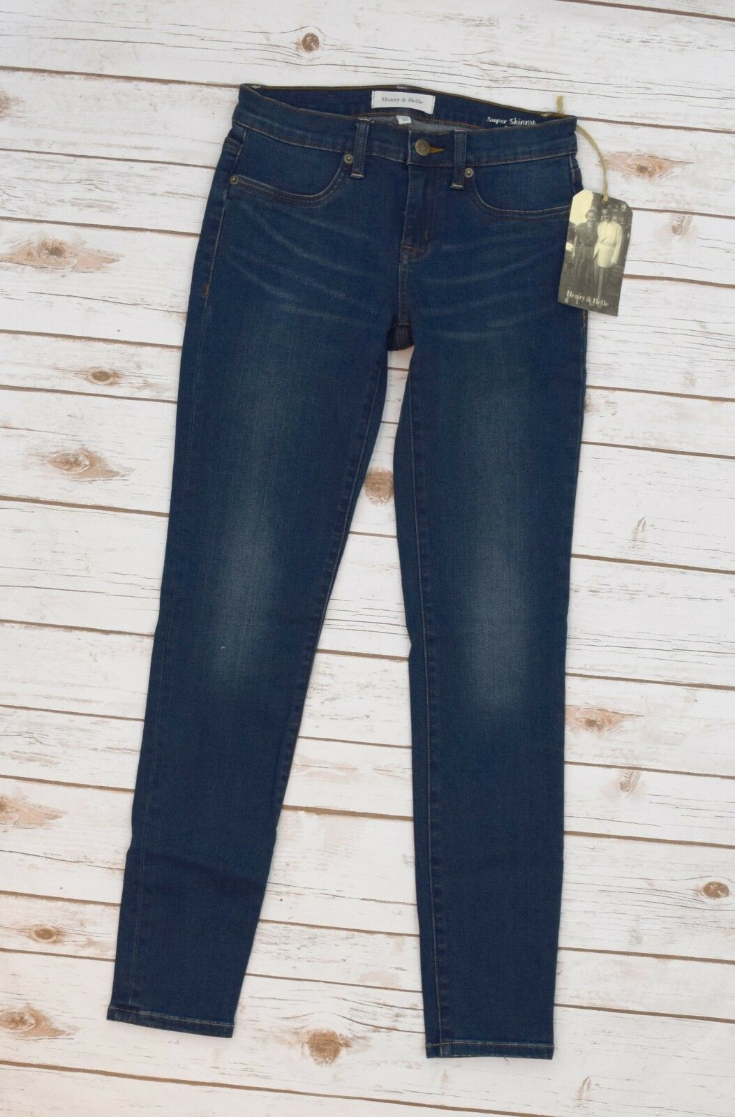 Henry & Belle Super Skinny Jeans Ankle Denim Pants in Rustic Stitch Fix NWT