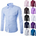 Classic Mens Luxury Long Sleeve Shirt Casual Slim Fit Stylish Dress Shirts Tops