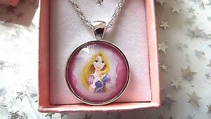 *PRINCESS RAPUNZEL TANGLE DOME NECKLACE 18 INCH 4 TO 6 YEARS  GIFT BOX BIRTHDAY
