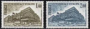 FRANCE-STAMP-TIMBRE-SERVICE-N-63-64-034-BATIMENT-CONSEIL-STRASBOURG-034-NEUFSxx-TTB