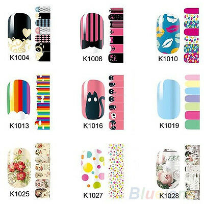 Full Sheet Self Adhesive Polish Foils Nail Art Decals Stickers Manicure Wraps B2
