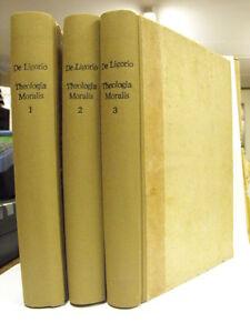 THEOLOGIA MORALIS SANCTI ALPHONSI DE LIGORIO in 3 tomi del 1832 (*D3)