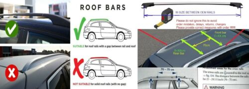 Lockable AeroWingBar Roof Rack Cross Bar Set Fits Volvo XC70 2000-2007