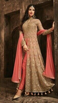indian Anarkali Salwar Kameez Wedding Party Wear Embroidery long dress gown  suit