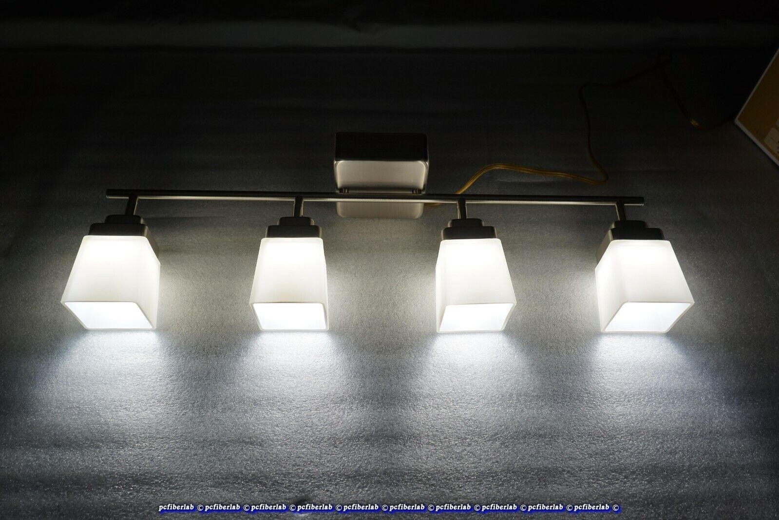 Picture of: Hampton Bay 4 Light Led Directional Track Lighting Kit Brushed Nickel Finish For Sale Online Ebay
