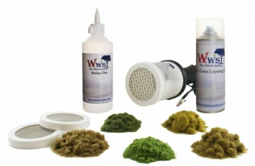 Model Railway WWS Pro Grass Grand Static Grass Applicator /& Scenery Kit