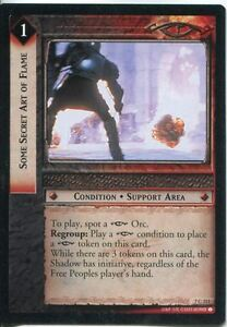 Lord-Of-The-Rings-CCG-Card-RotK-7-C313-Some-Secret-Art-Of-Flame