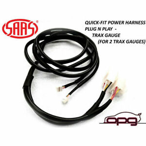 SAAS SGH6001 Quick Fit Power Plug & Play Harness for Trax Gauges Various Model