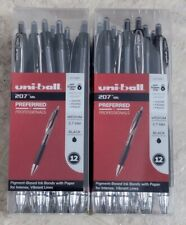 New Listinguniball Signo 207 Medium 07mm Black Retractable Pens 24