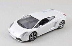 DieCast-Modellauto-1-43-Agostini-Lamborghini-Gallardo-weiss