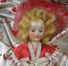"Vintage 1940's Hard Plastic Doll 7"" Dream Dolls 2022 Valentine in Box"