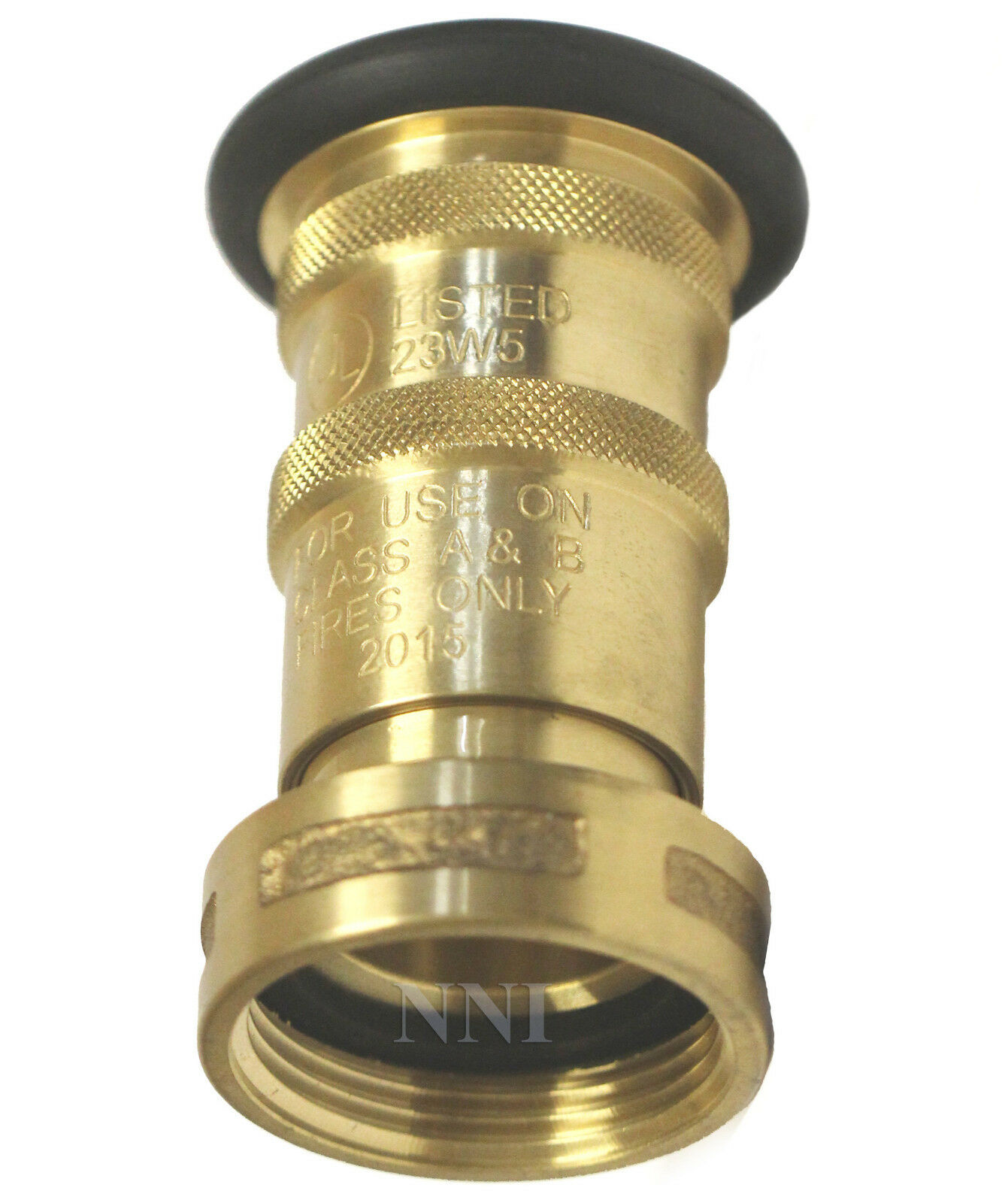 Nni quot nst nh fire hose brass bronze fog nozzle ul