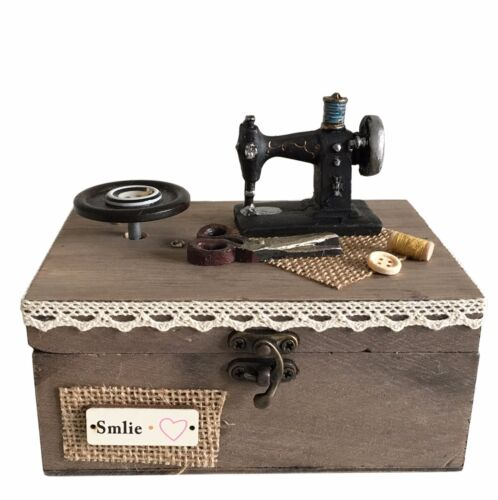 Textile - Wooden Music Storage Box