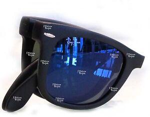 ray ban folding wayfarer blue lens
