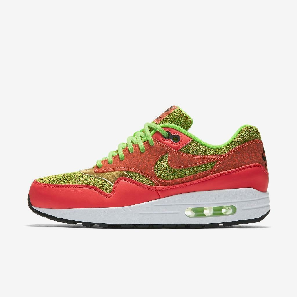 WMNS NIKE AIR MAX 1 SE 881101 300 GHOST GREEN/HOT PUNCH PINK-WHITE-METALLIC GOLD