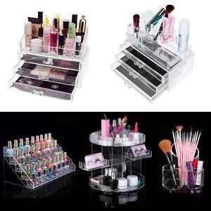 Makeup Case Acrylic Beauty Jewellery Cosmetic Box Storage Holder Christmas Gift