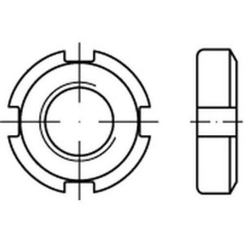 Nutmuttern DIN 70852 17 H M 70 x 1,5 VES