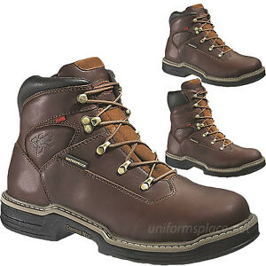 1418e7994f9 Details about Wolverine Work Boots Mens Buccaneer MultiShox Steel-Toe  Waterproof Brown Leather
