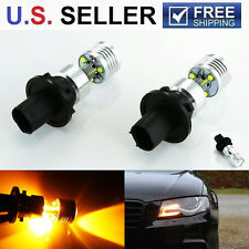 2x Amber Error Free PH24WY LED Bulbs For Audi Cadillac Front Turn Signal Lights