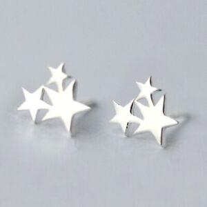 SALE-Silber-Stern-Star-Ohrstick-Ohrstecker-aus-echtem-925-Sterlingsilber