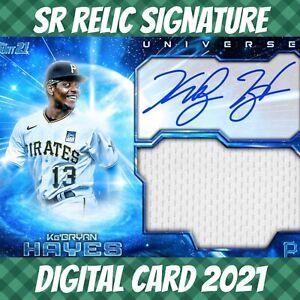 Topps Bunt 21 Ke'bryan Hayes Universe Blue Signature Relic 2021 Digital Card