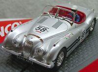 Ninco 50465 Jaguar Xk 120 Silver 58 1/32 Slot Car Display Case