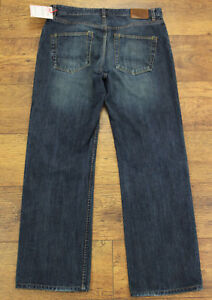 Ted-Baker-Herren-Horace-dunkelblau-Denim-Jeans-Groesse-Taille-32-034-Bein-31-034