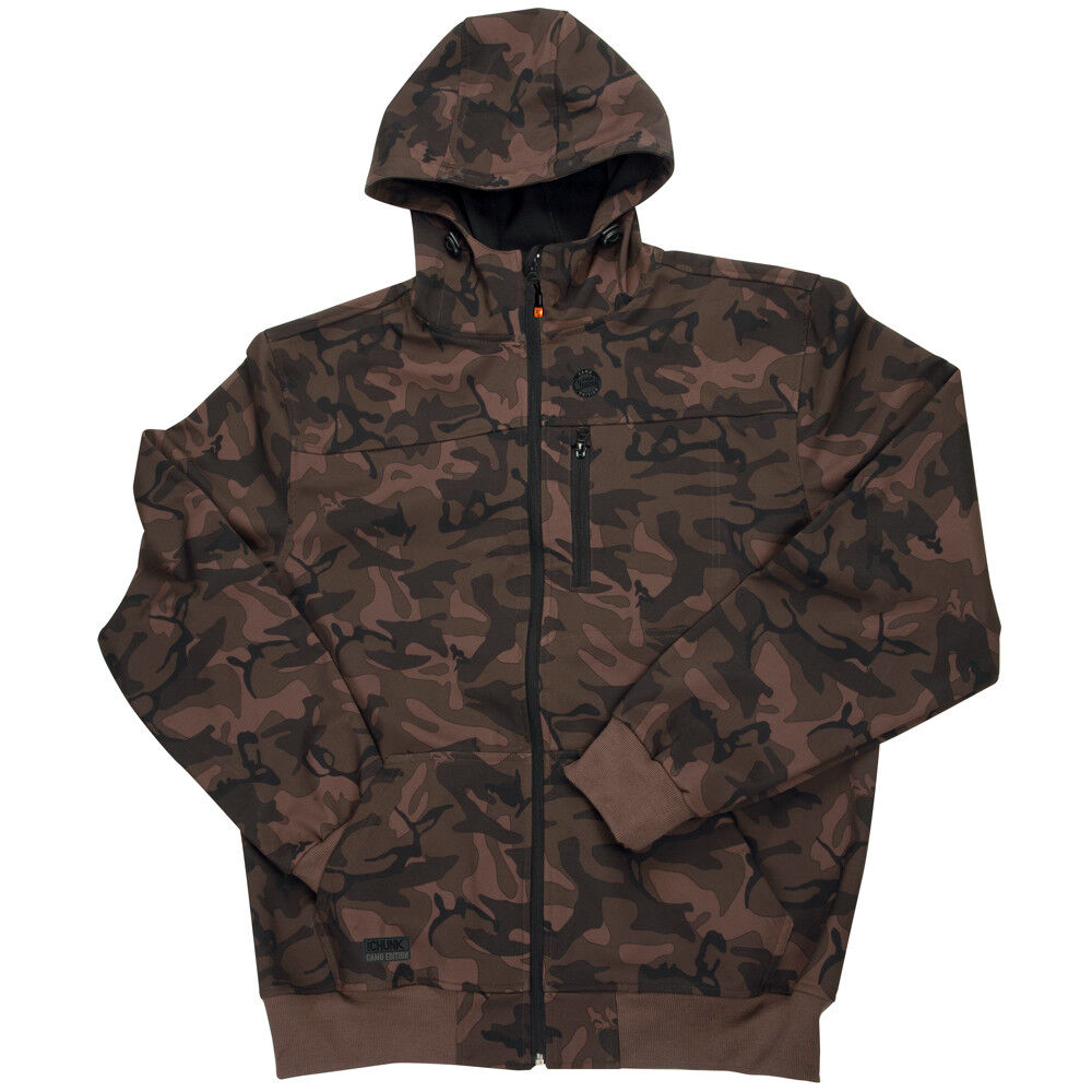NEW Fox Chunk Camo Softshell Fishing Hoodie Shower & Wind Resistant Resistant Wind XXL CPR892 38564d