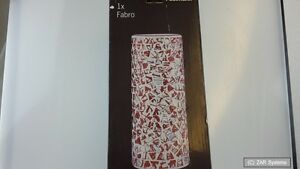 Paulmann-FABRO-998-47-Living-2Easy-Lampen-Schirm-Glas-Fabro-Mosaik-Orange-Neuw