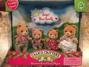 Calico Critters Sugar Bear Family #CC1851 Retired New in Box