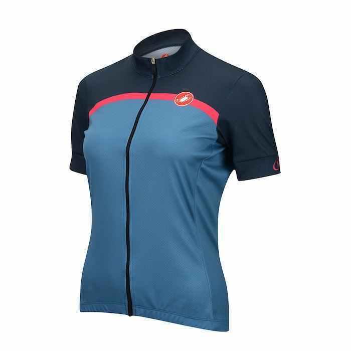CASTELLI Women's women Bike Velocissima Jersey SHORT SLEEVE bluee   SMALL