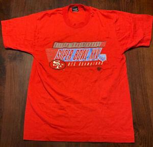Vintage-90-Super-Bowl-XXV-San-Francisco-49ers-Single-Stitch-Screen-Stars-Tshirt