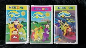 Teletubbies-PBS-Kids-VHS-Lot-of-3-Volumes-1-2-3