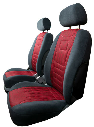 Vordersitzbezüge Stripes rojo auto referencias asiento universal ya referencia skoda Octavia