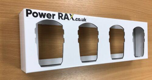 Van racking holder unit Power Rax in for Ryobi 18v Battery Rack 4 slot Lock