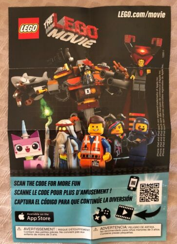 new folded in foil bag 71004 THE LEGO MOVIE Minifigures Check off Mini-Poster