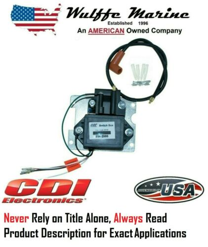 CDI 114-2986 Switch Box /& Coil for Mercury Outboard 50-85 4 cyl 90-150 Hp 6 cyl