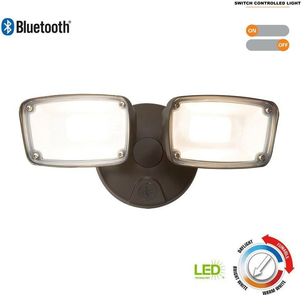 Smart Outdoor LED Flood Light Blautooth W  Tunable Farbe Temperature Dimmable