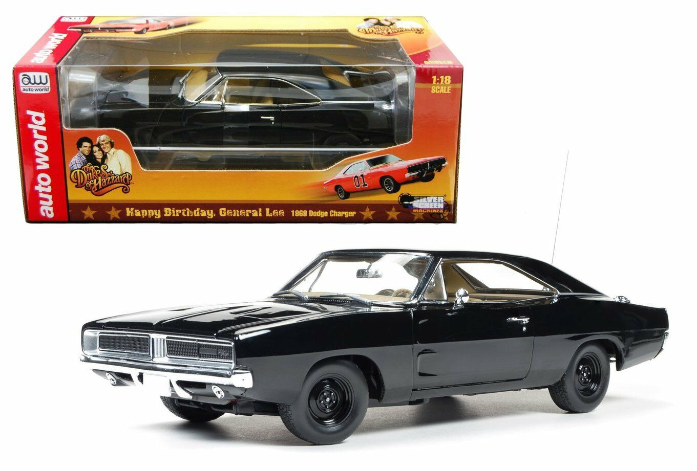 AUTO WORLD 1:18 1969 DODGE CHARGER GENERAL LEE