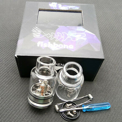 Fishbone RDA Wide drip tip Glass Body Adjustable Airflow-high quality
