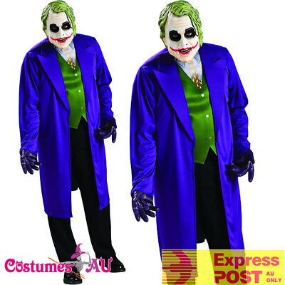Batman The Joker Dark Knight Heath Ledger Fancy Dress Costume Size M-XL