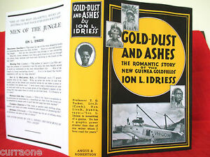 Ion-L-Idriess-GOLD-DUST-AND-ASHES-1945-Hardcover-copy-jacket-AUSTRALIAN-AUTHOR