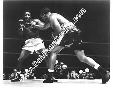 Floyd Patterson vs. Archie Moore Glossy 8x10 Black and White Boxing Fight Photo