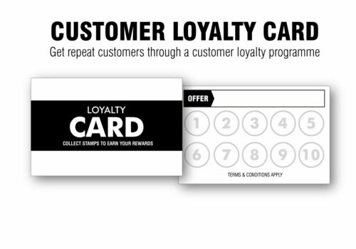Customer Loyalty Cards for Start-ups and Small Businesses Generic or Custom