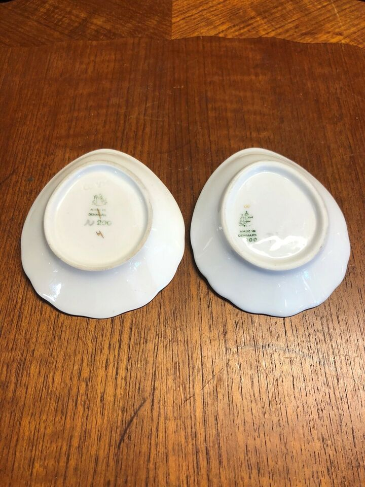 Porcelæn, Dråbe formet små fad , Bing & Grøndahl Mågestel