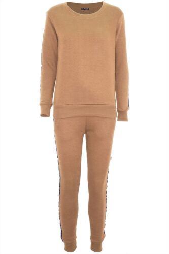 Womens Ladies Laganlook Zip Up Knitted Top Jogsuit Hi Lo Trousers Tracksuit Set